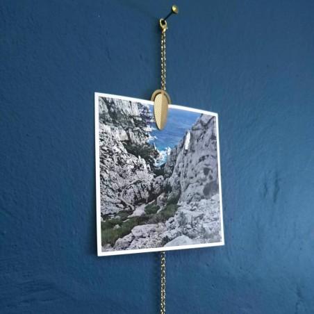 Bijoux de mur 1 Feuille - Porte-photos chaine
