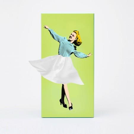 Tissue Up Girl - boite à mouchoirs Vintage