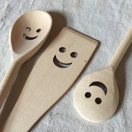Happy spoon - Cuillères et spatule en bois