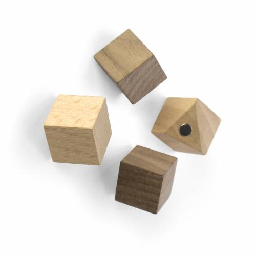 Aimant Wood cube