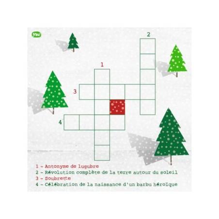 Carte GROU N°38 - Mots croisés fête