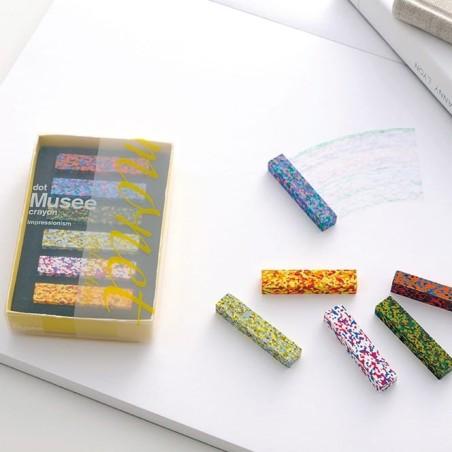 Dot Crayon - craies à la cire, multicolore