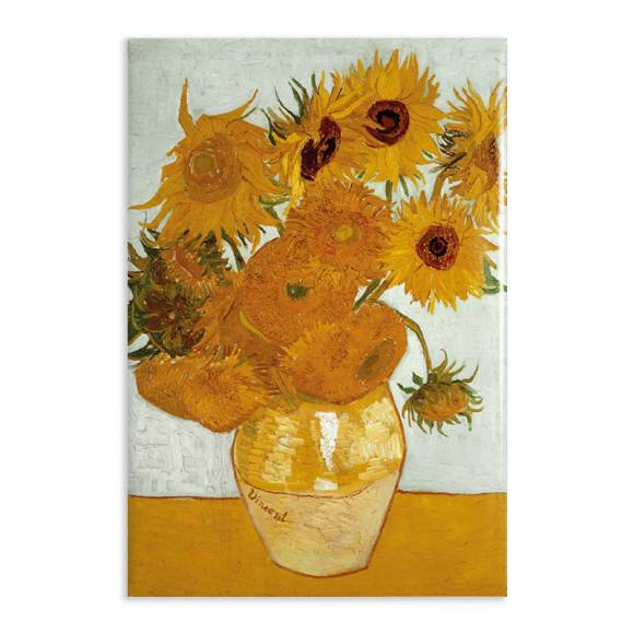 Aimant Gallery d'Art Twelve Sunflowers