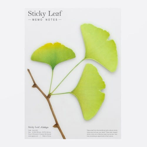 Sticky leaf Gingko - Notes collantes
