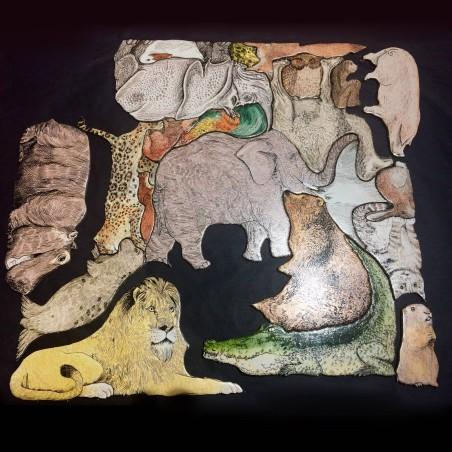 Tierpuzzle- Puzzle de 33 animaux
