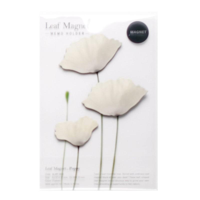 Leaf Magnet Coquelicot