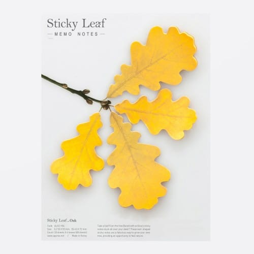 Sticky leaf Chêne Notes collantes